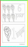 ejercicios en fichas para imprimir. Números pares e impares.
