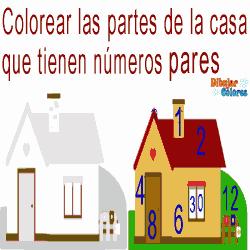 colorear pares de la casa