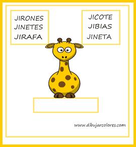 Encontrar la palabra que corresponde al dibujo. Todas las palabras contienen la  misma sílaba de comienzo y aproximadamente el mismo número de letras