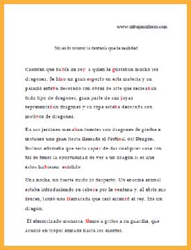 copiar el texto completo en otro papel rellenando los guiones existentes con diferente color
