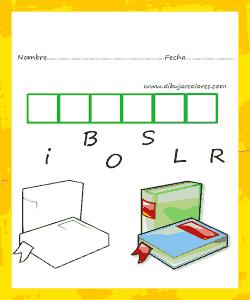 Colocar en orden las letras para formar la palabra de la imagen