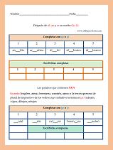 elegir la sílaba ge, gi o ji omitida en cada palabra para leer la regla y completar las palabras que proponemos en este ejercicio