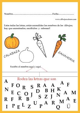 Les ayuda a reconocer las letras, a componer correctamente las palabras y también a discriminar visualmente las que no les sirven para componer el ejercicio.