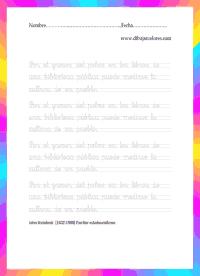 Hacer ejercicios de caligrafía, desde pequeños, ayuda a proporcionar una bonita letra, seguridad y rapidez en los estilos