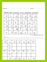 Divertidas Sopas de letras para imprimir de nivel 1