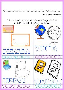 Colorear un círculo por cada sílaba que tenga la palabra.