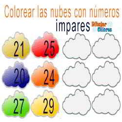 impares números colorear