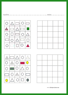 Divertido juego de duplicar figuras geométricas