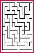 El laberinto contiene diferentes vías sin salida y sólo un recorrido correcto