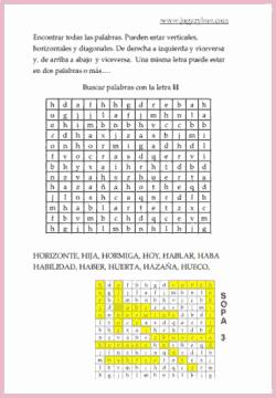 Sopa Letras B V H Actividades Formativas