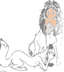 colorear asno con piel de león
