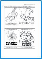 Tienen que desarrollar la actividad contando las sílabas de cada palabra y coloreando un círculo por cada sílaba que contenga