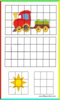 Dibujos de divertidas fichas para duplicar y colorear
