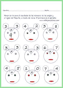 Un divertido modo de realizar ejercicios de multiplicar, sumar....