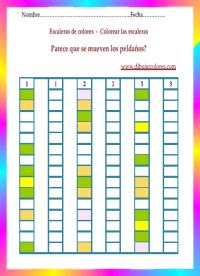 cada color de su respectiva casilla y reproducir la serie en la columna que corresponde