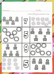 Colorear del mismo color los grupos que contengan la misma cantidad de unidades