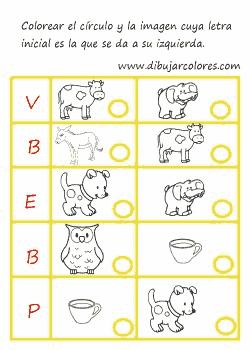 ejercicio para trabajar el abecedario