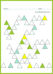 Colorear la plantilla en blanco, sin equivocarse de lugar,  igual que las de colores.