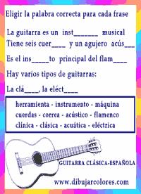 completar las frases eligiendo las palabras que correspondan y sean correctas con el texto de la actividad