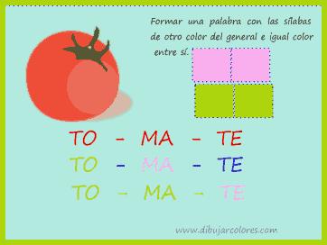 sílabas de tomate