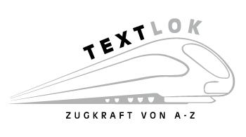 Logo Textlok - Zugkraft von A - Z