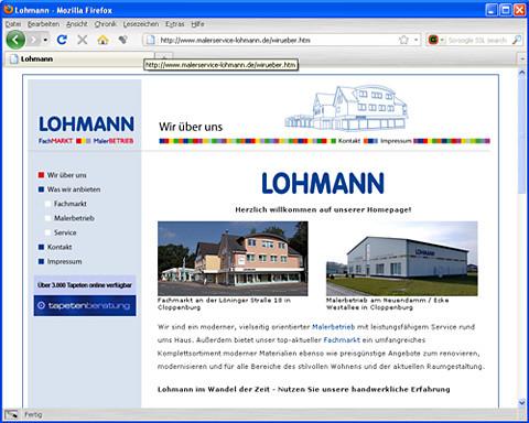 Website Malerservice Lohmann