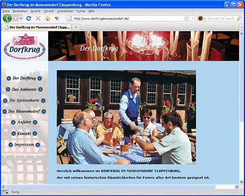 Website Dorfkrug im Museumsdorf Cloppenburg