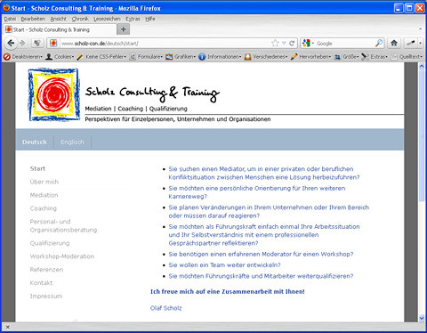 Website Scholz Consulting & Training