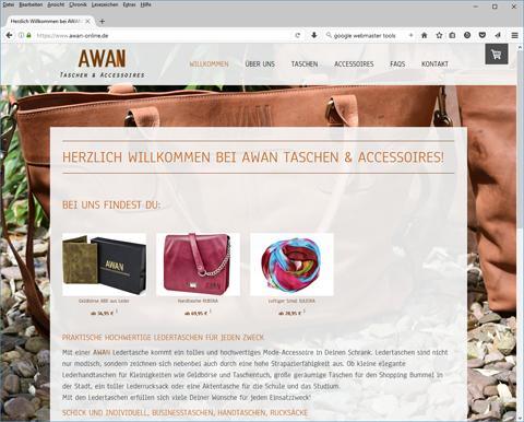 Online-Shop Awan - Taschen & Accessoires
