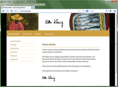 Website Elke König