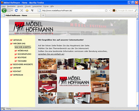 Website Möbel Hoffmann