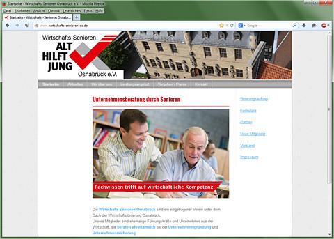 Website Wirtschafts-Senioren Osnabrück e.V.