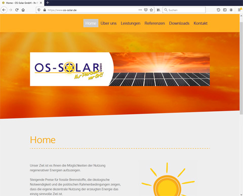 Website - OS-Solar GmbH
