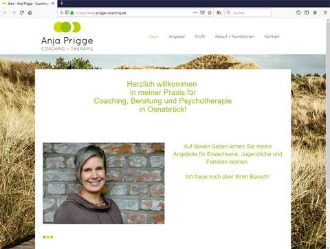 Website - Anja Prigge Coaching + Beratung