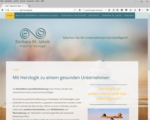 Website Barbara Jakob - Praxis für Herzlogik