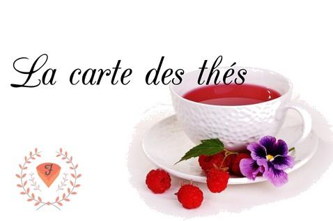 La carte des thés du fénétra