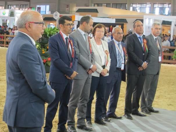 Die  OMCB Zuchtrichterkommission in EL Jadida 2019 nach Abschluss des Int. Championats (Foto K. Wemken)
