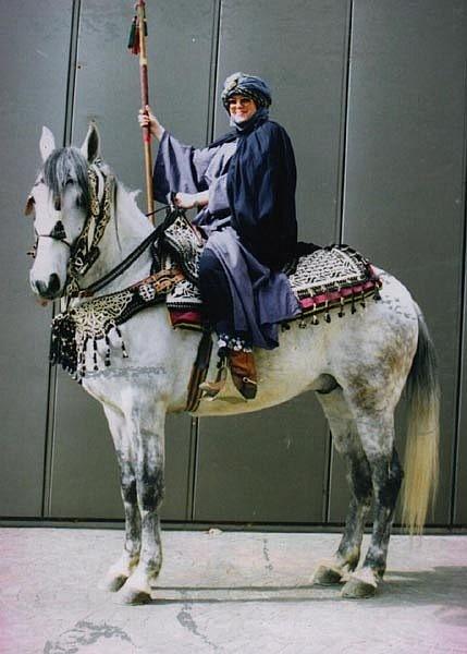 Ikram mit Christin Krischke auf der Equitana 1993