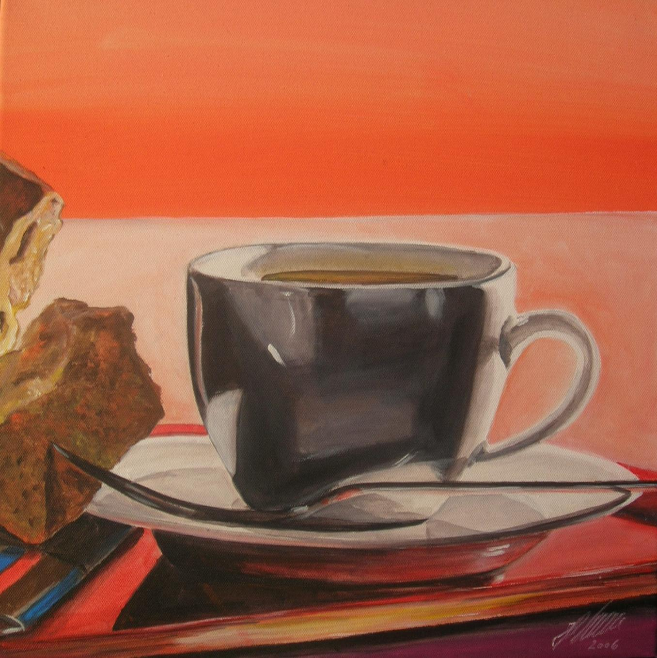 """Kaffee"" Acryl auf Leinwand 60 x 60 cm."