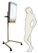 device for partial body phototherapy with Philips UVB 311nm lamps narrow band