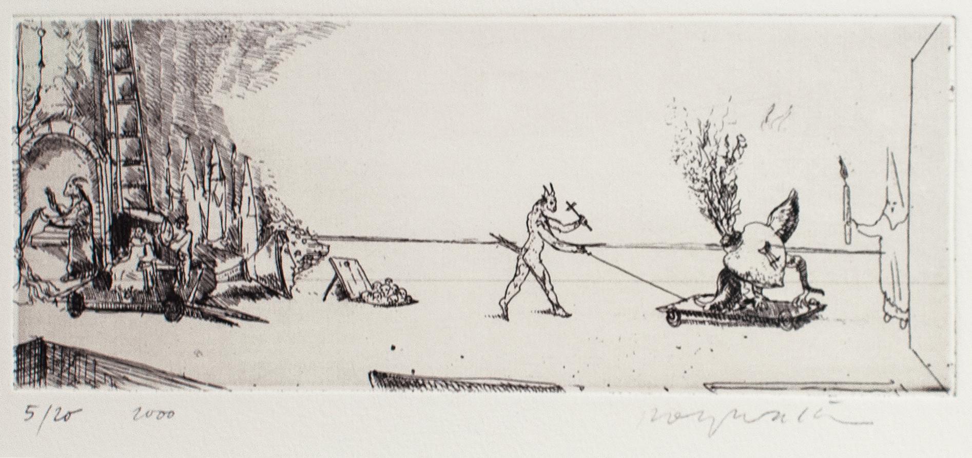 Sacre Coeur, 2000, Radierung, 7,5cm x 19,5cm