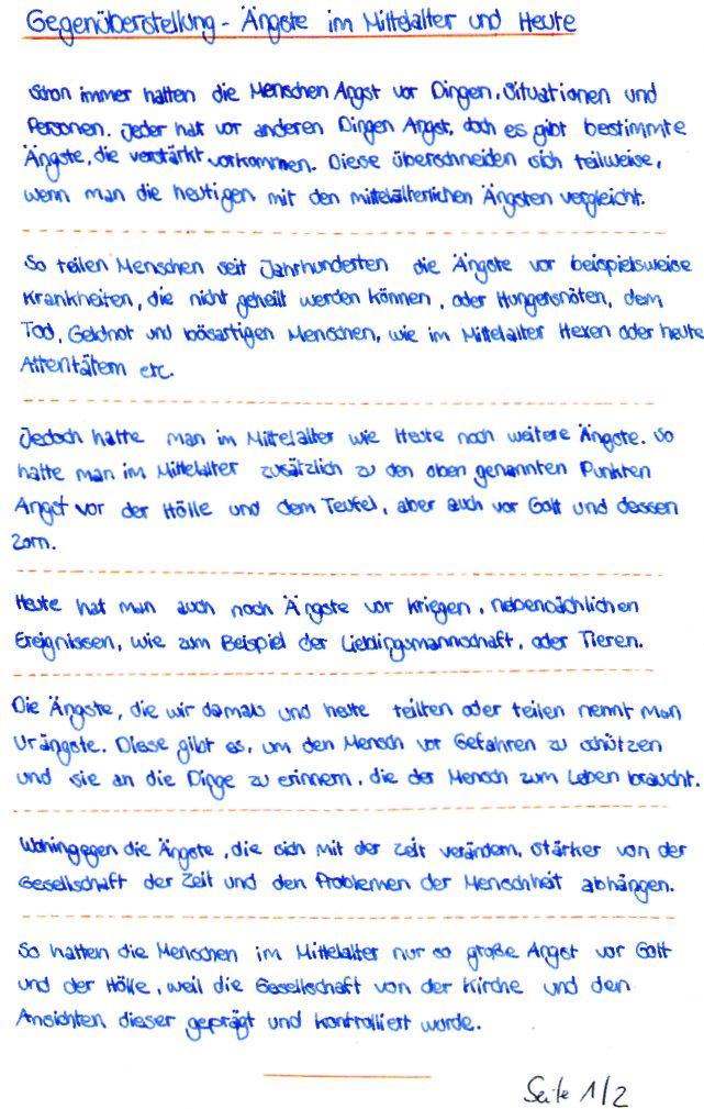 Klasse 8 - Thema: Mittelalter / Reformation (12/2017)