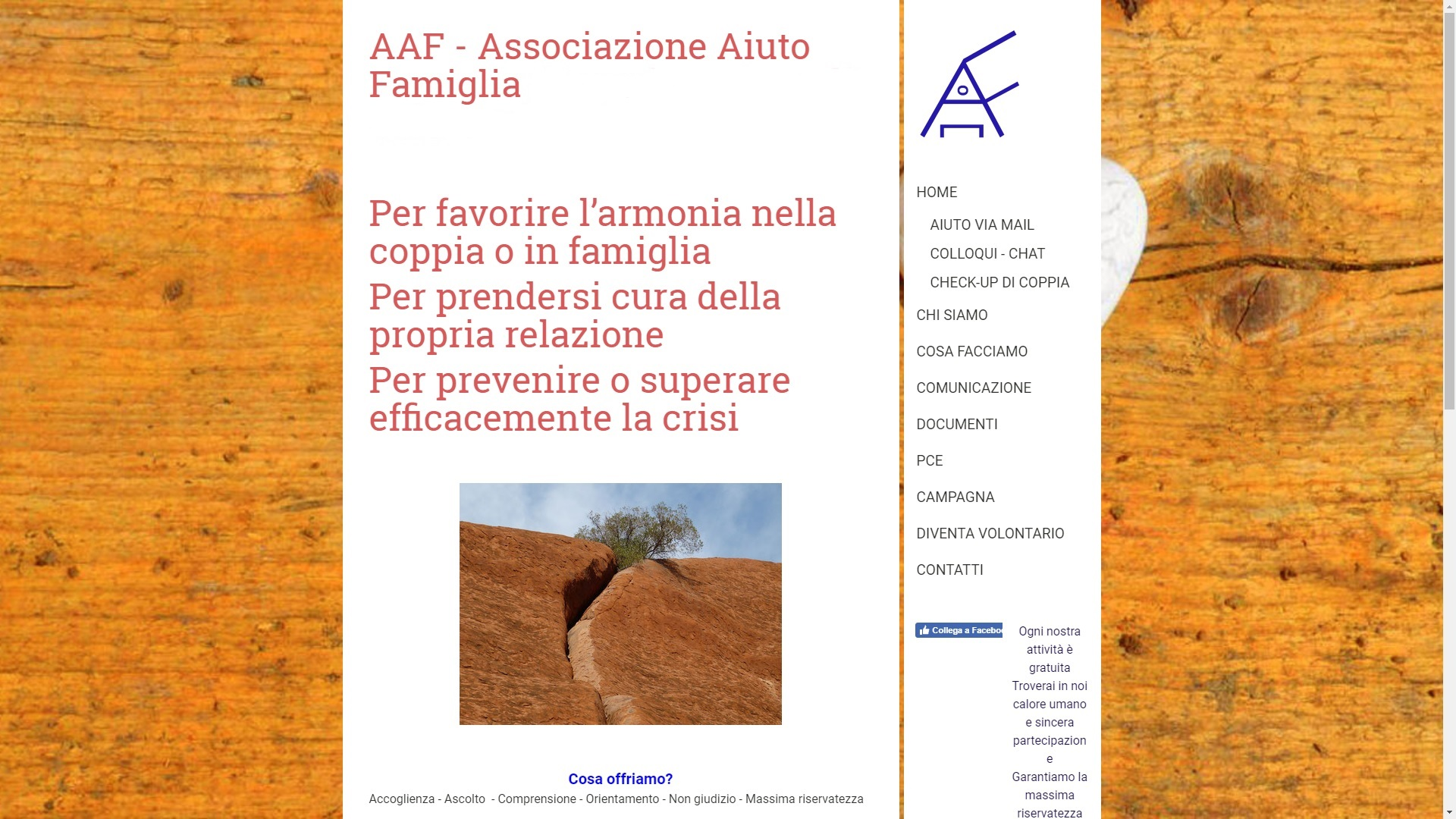 Sito AAF nel 2018