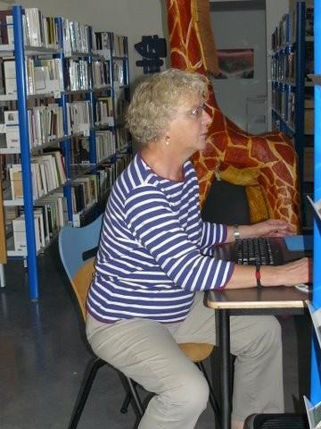 Ulla, Présidente de Lire à Bonnieux (en pleine action)