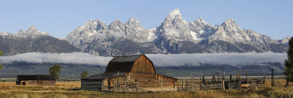 Alte Scheune und Teton Range / chpa0050