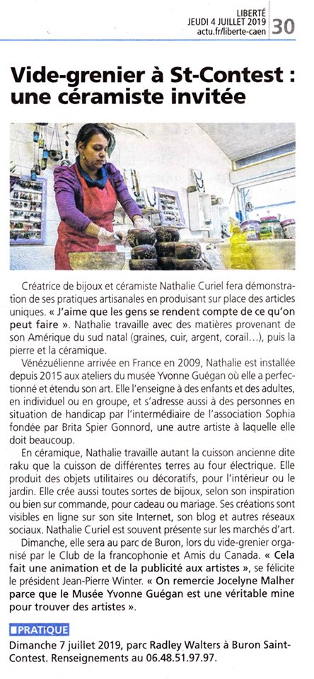 Nathalie Curiel Céramiste Caen