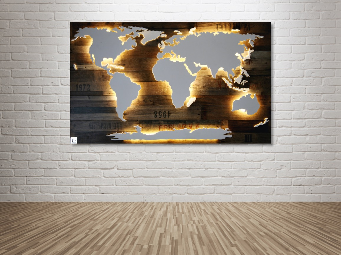 Weltkarten Mit Dekor Hintergrund Merk Echt