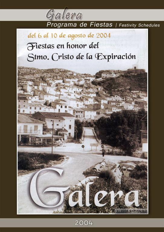 Programa Fiestas de Galera 2004