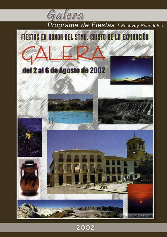 Programa Fiestas de Galera 2002