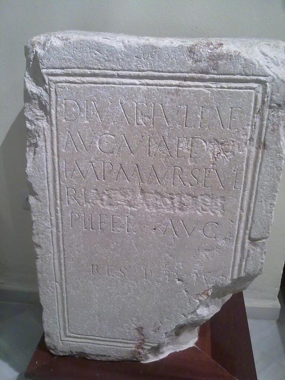 Museo de Galera - Piedra grabada